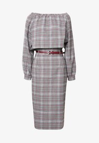 Madam-T - Shift dress - grau/ weinrot - 5