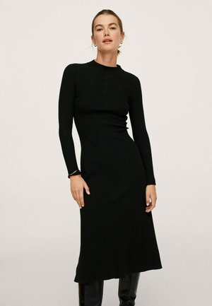 Vestido de punto - zwart
