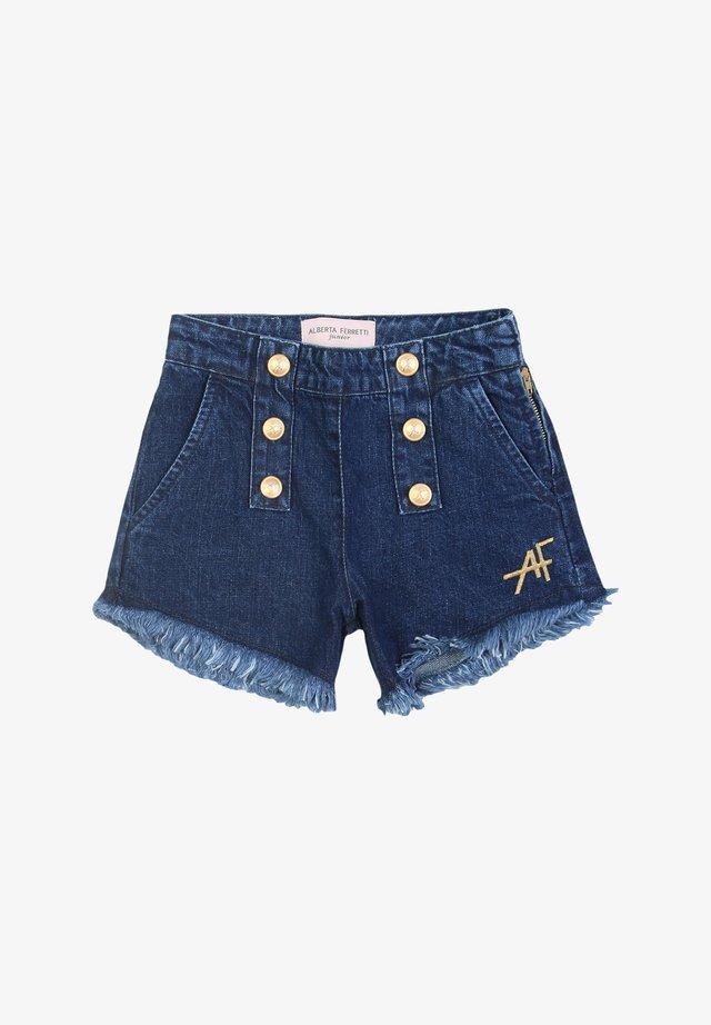 Jeansshort - denimblu