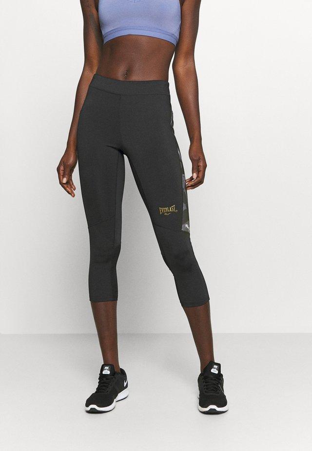 WOMEN JASPE - 3/4 sportovní kalhoty - black