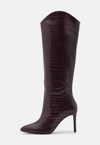 VEGAN GEORGIAA - High heeled boots - bordo