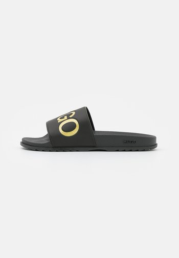 MATCH SLID - Sandaler - black/gold
