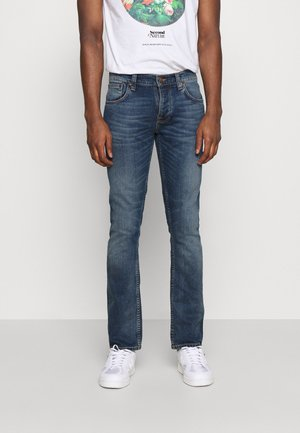 GRIM TIM - Slim fit jeans - dark blue denim