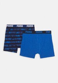 Puma - KIDS COLLAGE STRIPE BOXER 2 PACK - Pants - blue - 1