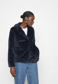 Dorothy Perkins - COLLAR AND REVERE TEXTURED COAT - Winter jacket - midnight - 0