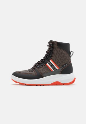 ASHER - High-top trainers - brown/black