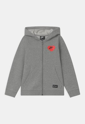 LIVERPOOL FC HOODIE UNISEX - Fanartikel - dark grey heather/black
