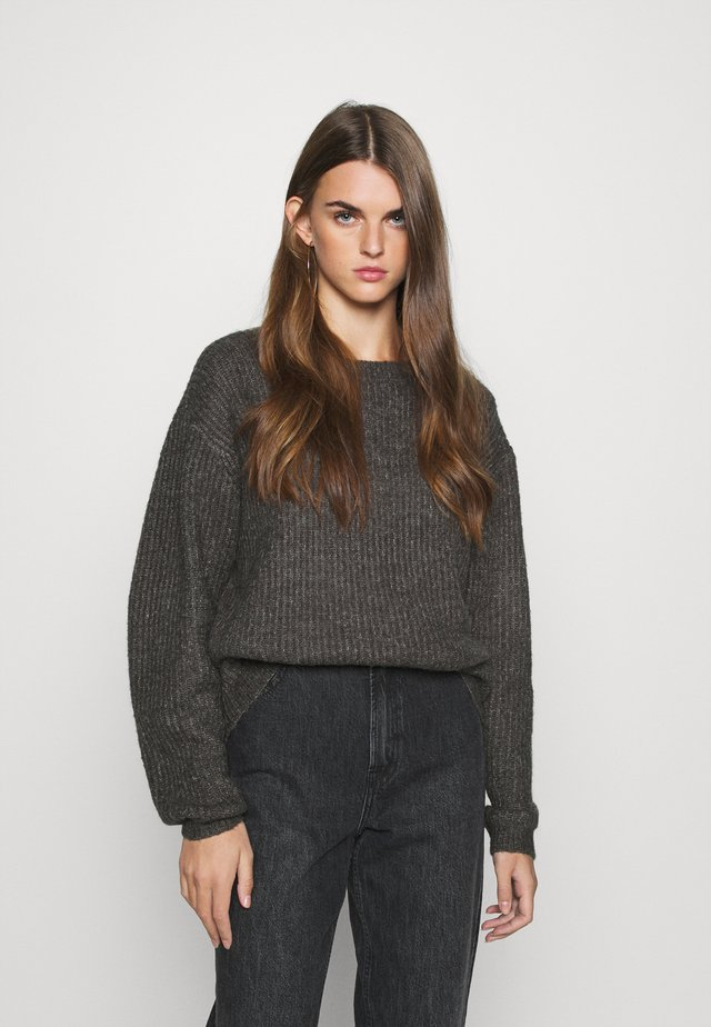 DEEP BACK SWEATER - Jumper - dark grey