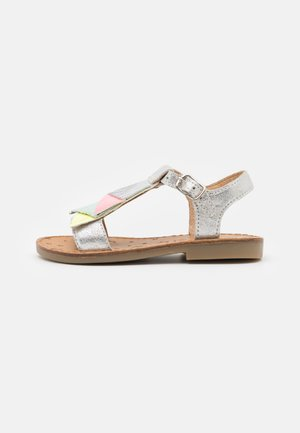 HAPPY FALLS - Sandals - silver/multi fluo