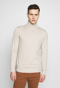 Jack & Jones - JJEEMIL ROLL NECK - Jumper - oatmeal melange - 0