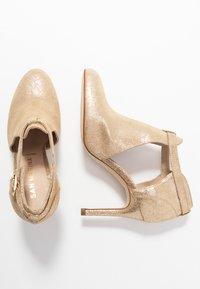 San Marina - AVISINO - High heeled ankle boots - gold - 3