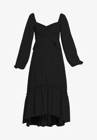 Who What Wear - THE PUFFSLEEVE MIDI DRESS - Robe d'été - black - 5