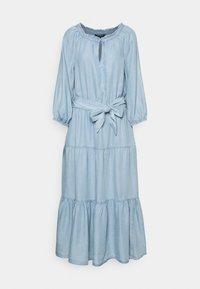 Lauren Ralph Lauren - VAETELL-LONG SLEEVE-DAY DRESS - Maxi dress - indigo mist wash - 4
