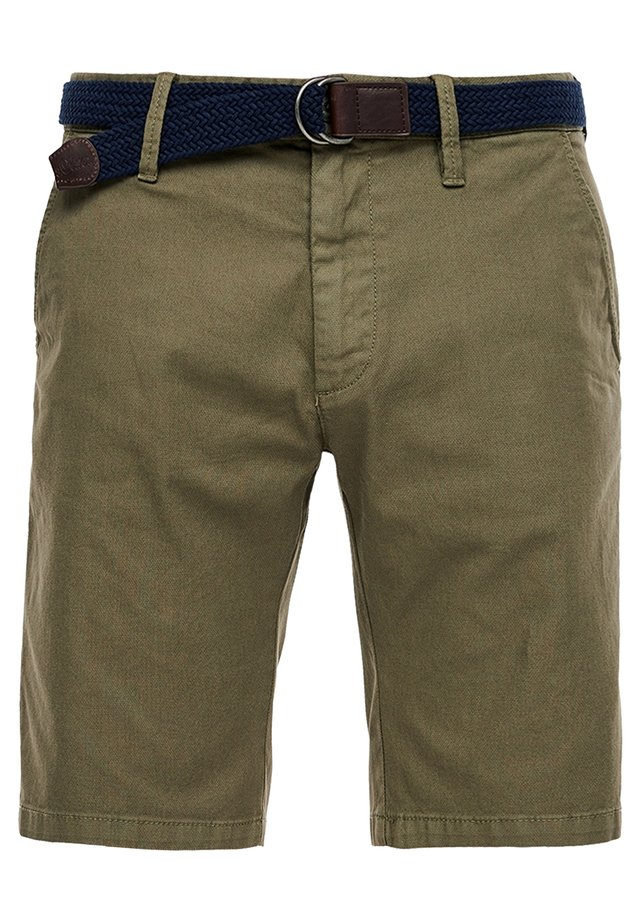 SLIM FIT BERMUDA - Shorts - khaki