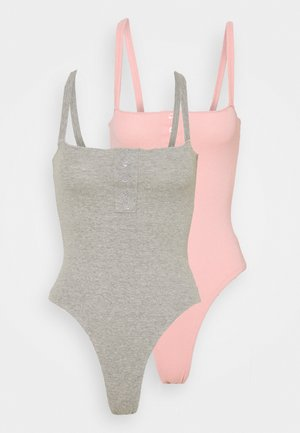 LETTUCE EDGE BODYSUIT 2 PACK - Top - rose pink/grey