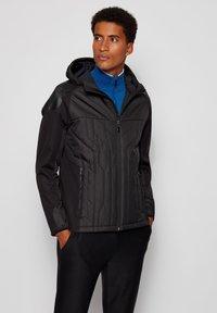 BOSS - J_CERRO - Zip-up hoodie - black - 0