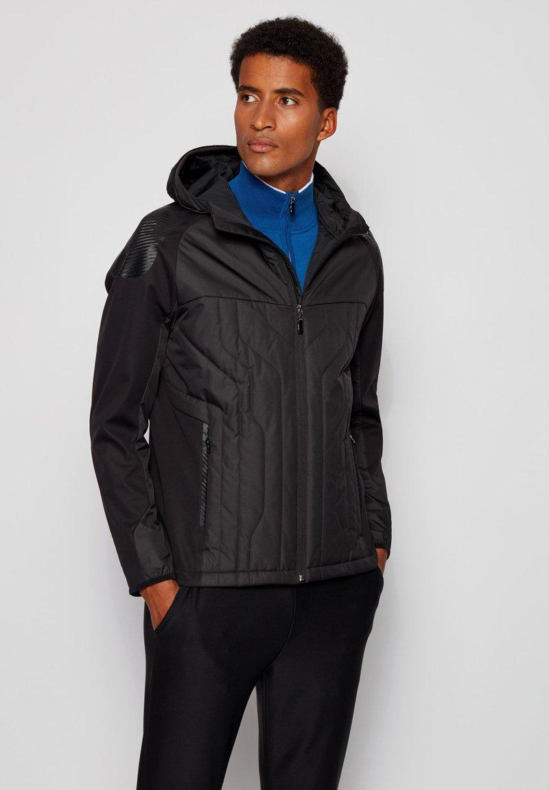 BOSS - J_CERRO - Zip-up hoodie - black