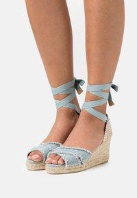 Castañer - BLUMA  - Platform sandals - water blue - 0