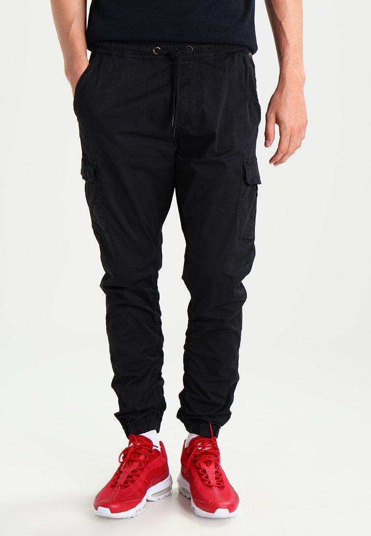 INDICODE JEANS - LAKELAND - Cargo trousers - black