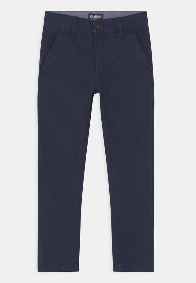 SKINNY FLAT FRONT - Chinos - blue