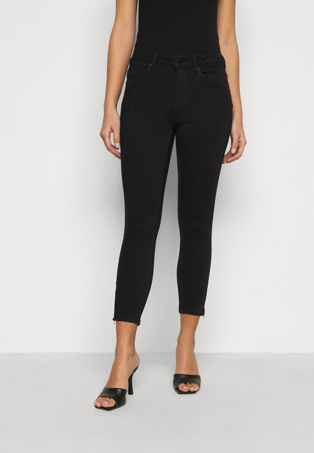 VMTILDE ZIP - Slim fit jeans - black denim