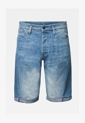 SCUTAR 3D - Denim shorts - faded cyanine blue