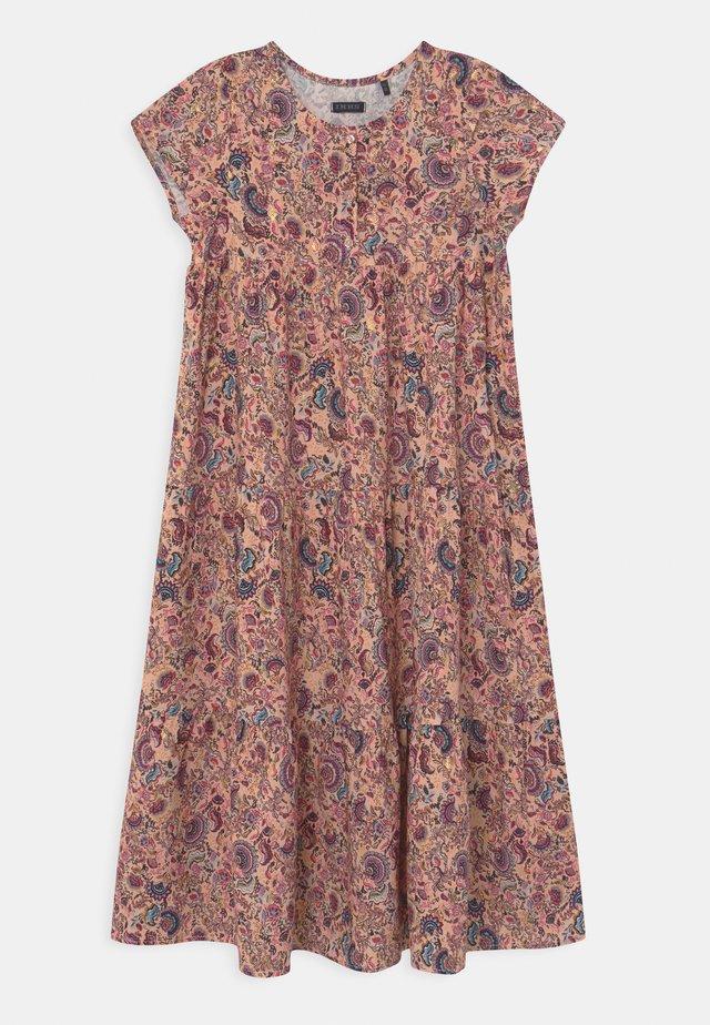 Robe chemise - rose poudré imprimé