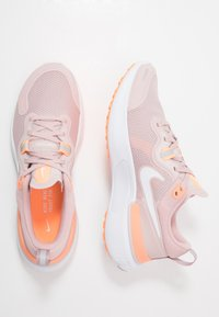 Nike Performance - WMNS REACT MILER - Neutral running shoes - champagne/white/barely rose/orange pulse - 1