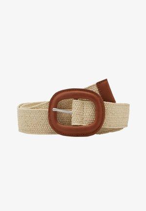 STRAW BELT - Belt - cream beige