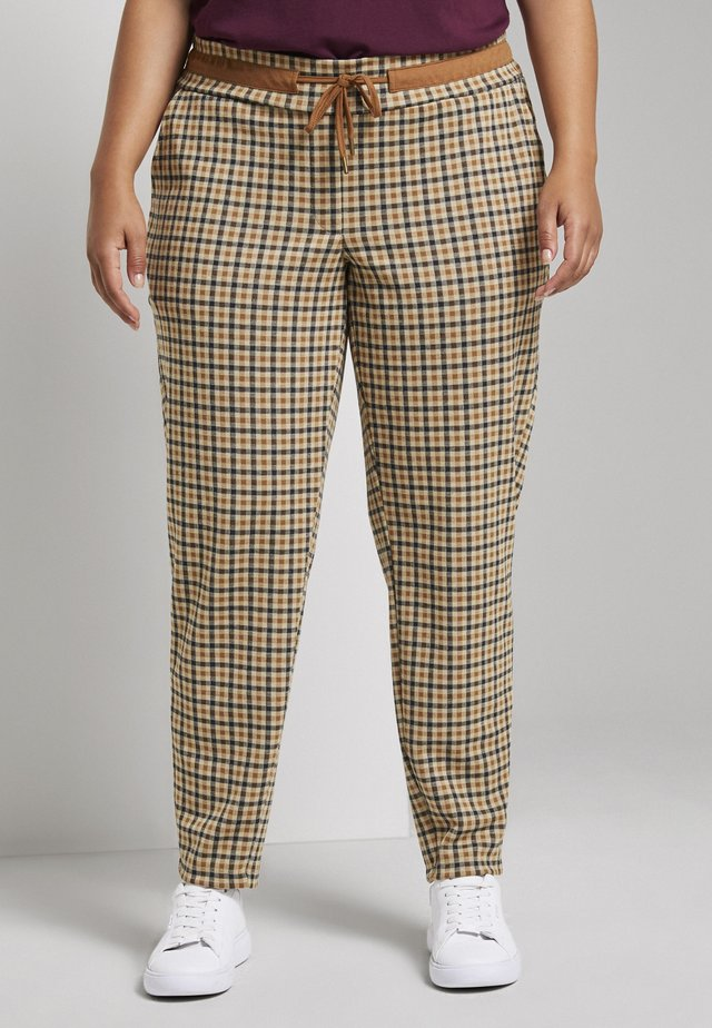 Trousers - beige brown