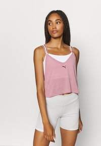 Puma - STUDIO STRAPPY TANK - Funktionsshirt - foxglove heather - 0