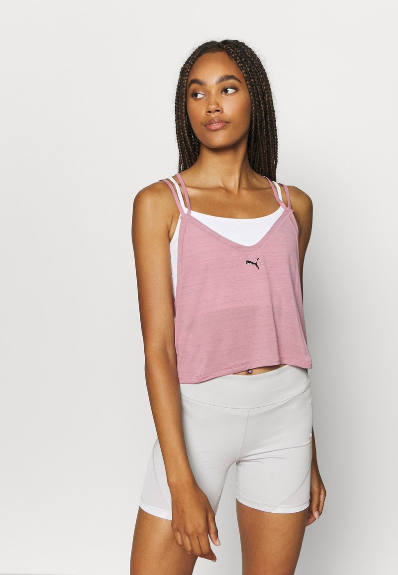 Puma - STUDIO STRAPPY TANK - Funktionsshirt - foxglove heather