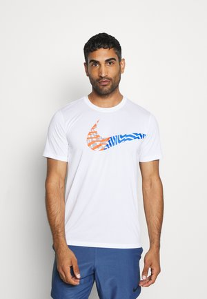 LEG TEE - Camiseta estampada - white