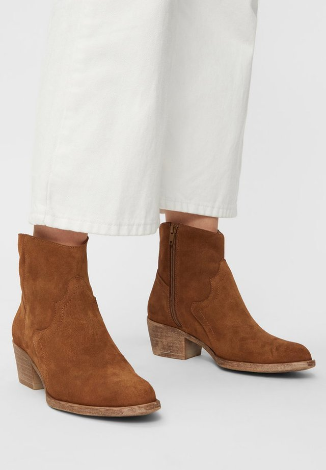 BIADAVALYN - Ankle boot - cognac