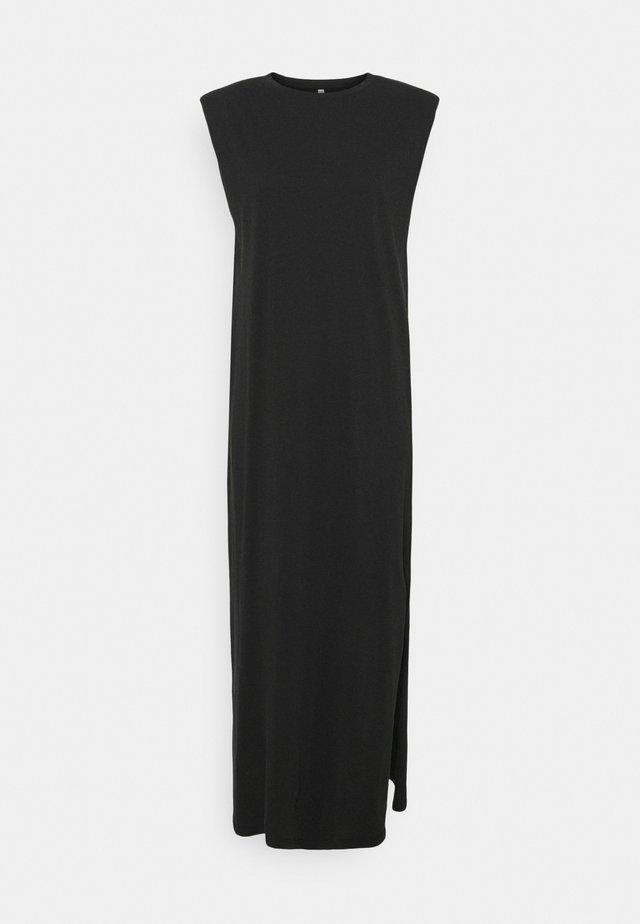 ONLSILLA LIFE SHOULDERPAD DRESS - Jerseyjurk - black