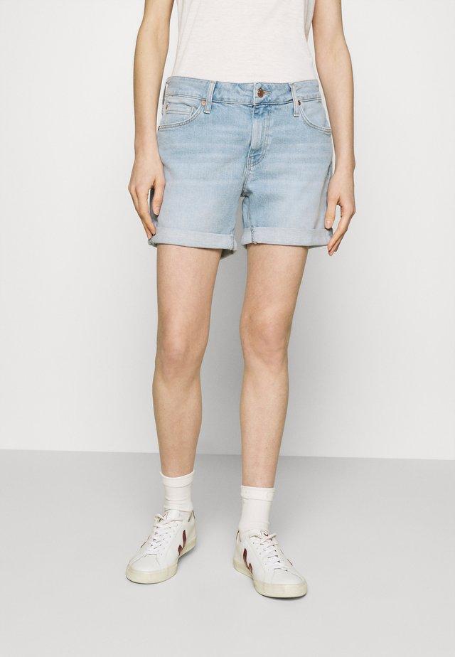 PIXIE - Denim shorts - bleached denim