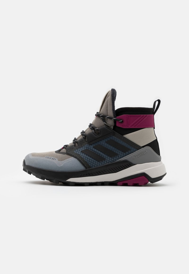 adidas Performance - adidas TERREX TRAILMAKER MID COLD.RDY WANDERSCHUHE - Hiking shoes - metal grey/core black/power berry