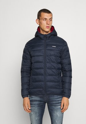 JJVINCENT PUFFER HOOD - Light jacket - navy blazer