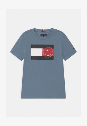 FLAG SMILE UNISEX - Print T-shirt - blue