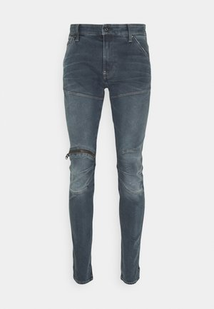 3D ZIP KNEE SKINNY - Skinny džíny - elto novo superstretch/worn in smokey night