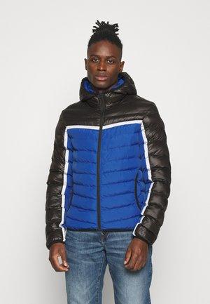 Winterjas - black/cobalt blue