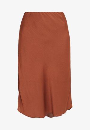 LAURA SKIRT - Áčková sukně - mahogany