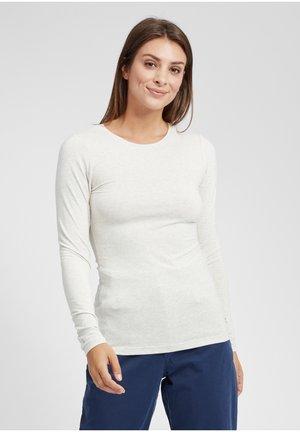 MARIE - Maglietta a manica lunga - oyster grey melange