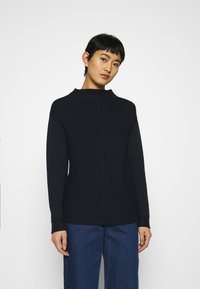 Marc O'Polo - STRUCTURE MIX TURTLENECK - Jumper - night sky - 0