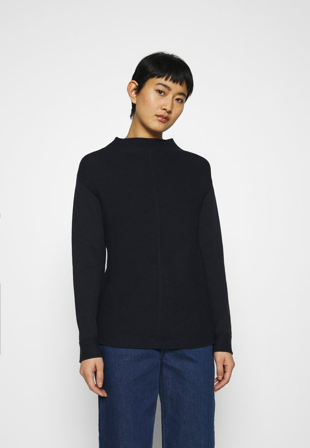 STRUCTURE MIX TURTLENECK - Jumper - night sky