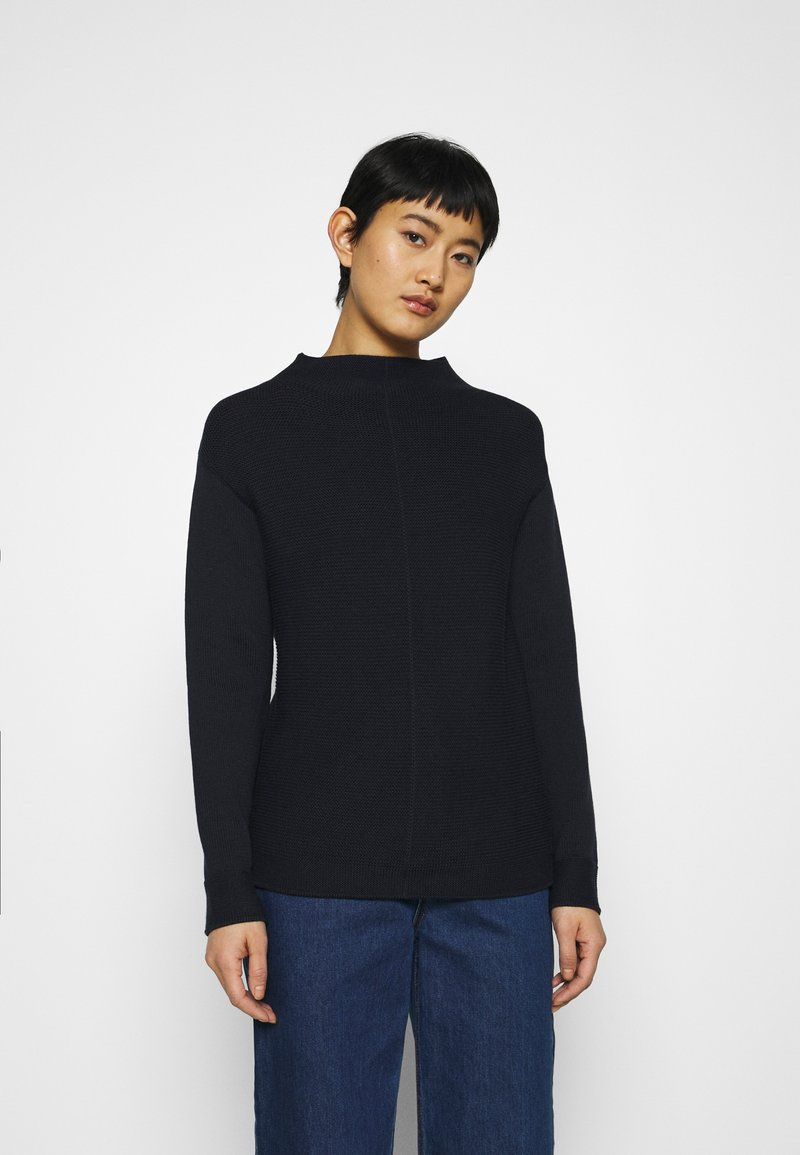 Marc O'Polo - STRUCTURE MIX TURTLENECK - Jumper - night sky
