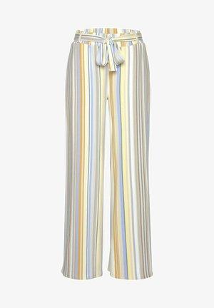 Trousers - gelb-blau-gestreift