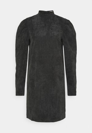 HIGH NECK SHIFT DRESS - Day dress - black