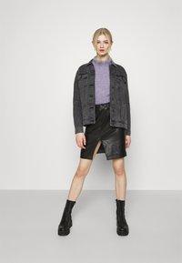 Noisy May - NMOLE  - Denim jacket - dark grey denim - 1