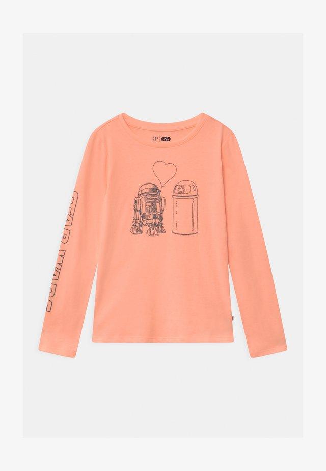 GIRL STAR WARS  - Pitkähihainen paita - energetic peach